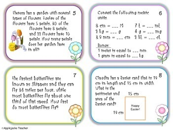 Spring Math Activities - 4th and 5th Grade - Common Core Aligned