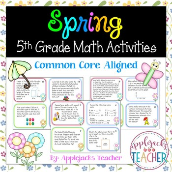 Spring Math Activities - 5th Grade - Common Core Aligned