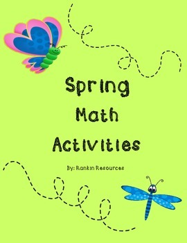 Spring Math Activities (Kindergarten and 1st, Numbers and