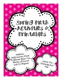 Spring Math Activities & Printables