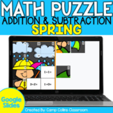 Spring Math Activities | Puzzle | Addition and Subtraction to 20 | Google Slides