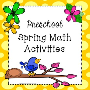 Spring Math Activities For Preschoolers Toddlers By Making The