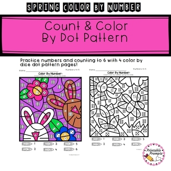 Spring Math Activity- Color By Number