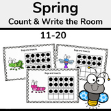 Spring Ten Frames, Count and Write the Room 11-20