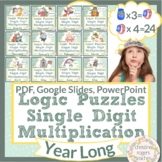 Multiplication Logic Puzzles, Year Long Math Logic Puzzles