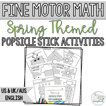 Spring Math Activity Pack- Counting and Cardinality- Popsicle Sticks