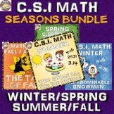 Summer Math Activity + Seasonal Bundle: CSI Math. Spring/Winter/Fall/Summer!