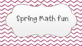 Spring Math Activity Sheets