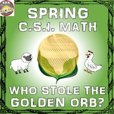 Spring Math Activity: Who Stole the Golden Orb? A Fun CSI
