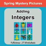 Spring Math: Adding Integers - Mystery Pictures