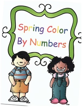 Spring Math Addition Color By Numbers