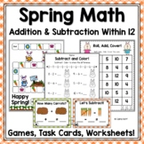 Spring Addition & Subtraction Games Within 12