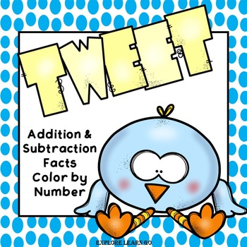 Spring Math / Addition and Subtraction Facts to 20 / Color