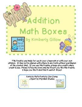 Spring Math Boxes (Freebie)