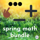 Spring Math Bundle--Counting, Addition, and Subtraction Task Cards