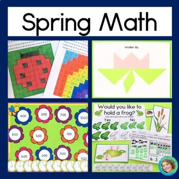Spring Math Bundle for First Grade
