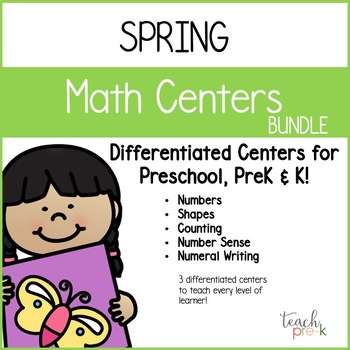 Spring Math Bundle for Preschool, PreK, K & Homeschool