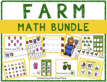 Farm Math Bundle with Adapted Books