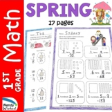 Spring Math Worksheets for First Grade