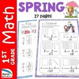 Spring Math Worksheets for 1st Grade