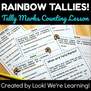 Spring Math Center Activities: Rainbow Tally Marks Worksheets