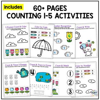 Spring Math Center Activities for Preschool
