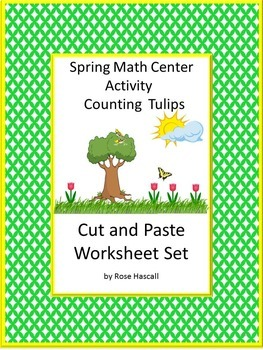Spring,Spring Math Centers, Cut and Paste Worksheets, Special Education