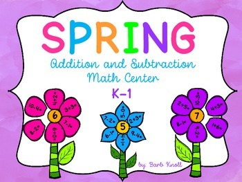 Spring Math Center: Add and Subtract