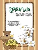 Spring Math Center - Base Ten Block Number Match