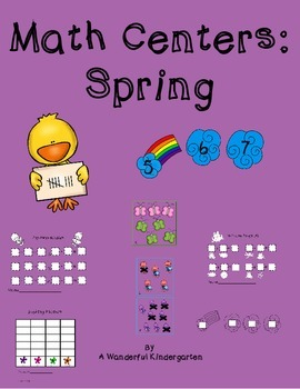 Spring Math Center Bundle