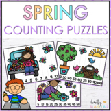 Spring Math Center Counting Puzzles {FREEBIE}