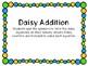 Spring Math Center -- Daisy Addition