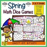 Spring Math Center Dice Games