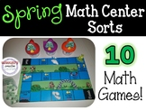 Spring Math Center Game - K-1st (Counting, Ten Frames, Comparing Numbers, etc)