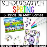 Kindergarten Spring Math Center Games - Distance Learning