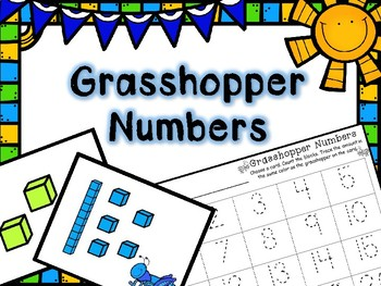 Spring Math Center -- Grasshopper Numbers -- Place Value