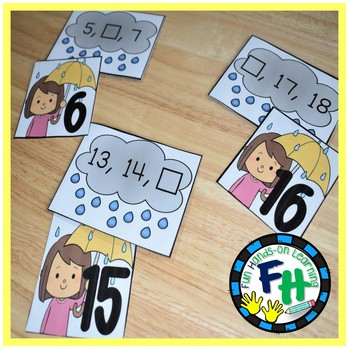 Spring Math Center - Missing Numbers 1-20