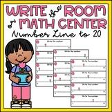 Spring Math Center Kindergarten Number Line to 20