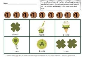 Spring Math Center Packet