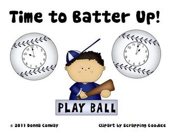 Spring Math Center- Time to Batter Up!