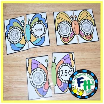 Spring Math Center - U.S. Coin Match Puzzles