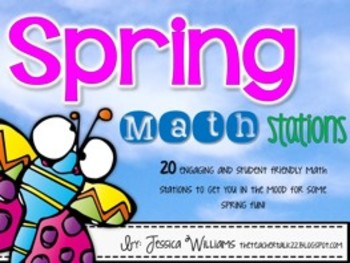 Spring Math Centers {20 Stations}