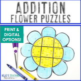 ADDITION Flower Puzzles | Spring Math Centers, Stations, A