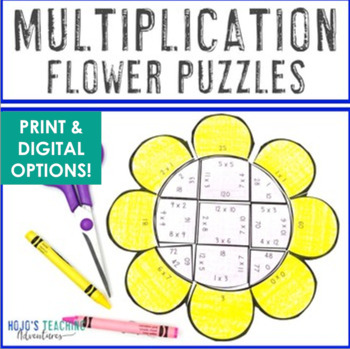 Spring Math Centers: Multiplication Flower Puzzles