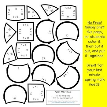 MULTIPLICATION Flower | Spring Math Games or FUN Spring Math Centers