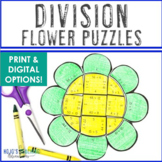 DIVISION Flower Puzzles | Spring Math Games | Spring Math Activities
