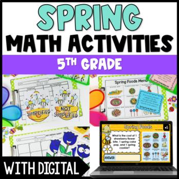 Spring Math Centers {4th Grade and 5th Grade Common Core Aligned}