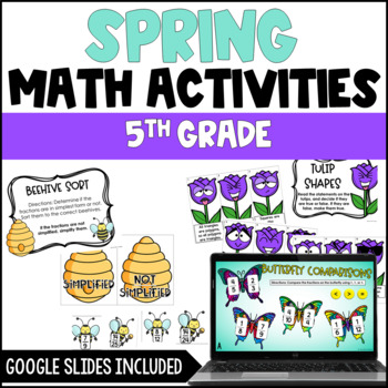 Spring Math Centers {4th Grade and 5th Grade Common Core Aligned}
