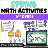 Spring Math Centers and Activities for 5th Grade