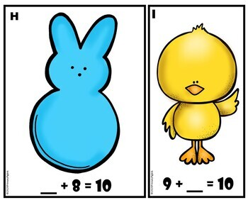 Spring Math Centers BUNDLE: Easter, St. Patrick's & Spring Editions